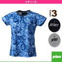 [プリンス テニス・バドミントンウェア(レディース)]ゲームシャツ/レディース(WL7043)