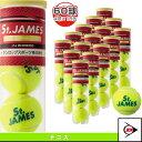 [ダンロップ テニスボール]【旧パッケージ品】St.JAMES(セントジェームス)60球入『15缶×4球入』(STJAMESE4TIN)