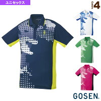[ゴーセン テニス・バドミントン ウェア(メンズ/ユニ)]ゲームシャツ/ユニセックス(T1802)の画像