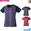 ショッピングkitson [キットソン テニス・バドミントン ウェア(レディース)]ゲームシャツ/レディース(0384002)