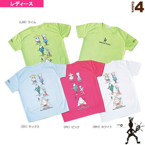 [バルデマッチ テニス・バドミントン ウェア(レディース)]Tシャツ(Villians)/レディース(BM-JW1324)