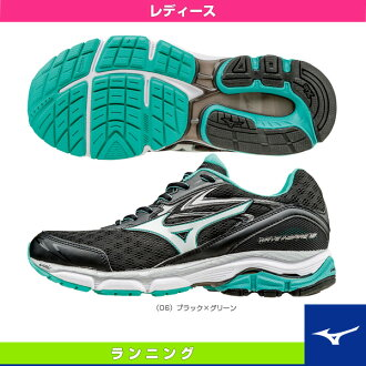 [航運 100 日元出售 ! 12 / 2 * 18:00 ~ 12 / 8 10:00] [美津濃慢跑鞋] Web 激發 12 / 12 波激發 (W) 和女士 (J1GD1644)