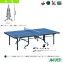 [ユニバー 卓球 コート用品]卓球台/内折・連動式・開閉注意ボイス1個付(SVM25F)
