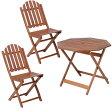 【送料無料】【ガーデンテーブル ガーデンチェア】≪3点セット≫八角テーブル 90cm&バーチカルチェア #GC041B×2脚【ガーデンファニチャー セット テーブル 椅子 木製】 【D】【FB】