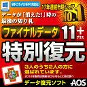 【ダウンロード版】AOSデータ ファイナルデータ11plus 特別復元版 ダウンロード版