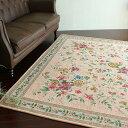 ラグ ゴブラン織 シェニール ラグマット カーペット 約 2畳 用 200×200 パステル ピンク じゅうたん 絨毯 通販 送料無料 ホットカーペットカバー 床暖房 ゴブラン