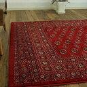 高密度がお得に! 絨毯 6畳 用 240×330 高級 ベルギー絨毯 ラグ ボハラ 柄 35万ノット ウィルトン織 レッド 赤 送料無料 ヨーロピアン リビング...