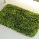 2枚SETがチャンス!】 玄関マット 室内 屋内 洗える 45×75cm 送料無料 毛足35ミリ超ロング シャギーラグ 全4色 シャギーラグ ラグマット 洗濯可 マイクロファイバー ムートン 調 グリーン 緑 みどり
