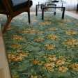 カーペット 防汚 撥水 おしゃれ 花柄 江戸間 6畳 用 261x352 ダイニングラグ 長方形 ソレイユ ラグマット 絨毯 送料無料 ベルギー絨毯