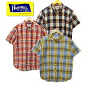 Pherrow's フェローズ 18S-PBDS3 マドラスチェック半袖シャツ ボタンダウンシャツ BDシャツ 半袖 チェック リネン