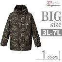 ショッピングスノーボード 大きいサイズ スノボージャケット メンズ リーフプリント 防水 撥水 防風性 中綿キルト C291113-09