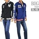 ショッピングスタジャン 大きいサイズ スタジャン メンズ スウェット スエット 袖プリント NY ヤンキース MLB C300111-07