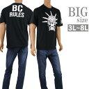 ショッピングETC 大きいサイズ Tシャツ 半袖 クルーネック メンズ BULLET CLUB 新日本プロレス C300201-05