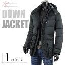 ダウンジャケット メンズ ダウンコート ジャケット コート 暖か 黒 ブラック フード 防寒 V270820-05