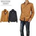 ショッピングウエスタン スウェードシャツ メンズ シャツ ポリスウェード 秋 冬 ウエスタンシャツ B291006-01