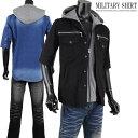ミリタリーシャツ 半袖 メンズ 夏 レイヤード サマージャケット ライトアウター サマーシャツ I020519-08