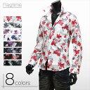 花柄 シャツ メンズ  ドレスシャツ 花柄シャツ 薔薇 大きいサイズ有り BB-S134030 七分袖 S134030-13SS 【楽ギフ_包装】