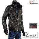 ショッピングライダース 革ジャン レザージャケット 合成皮革 ブルゾン レザー ライダースジャケット メンズ ライダース A270901-02