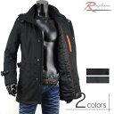 ショッピング2012 ハーフコート 中綿 パイピング 防寒 メンズ V270820-12