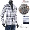 ショッピングギンガムチェック ストライプ サマーシャツ 麻シャツ メンズ シャツ ストレッチ チェックシャツ R290221-06