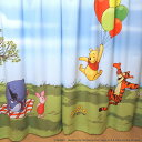 カーテン ディズニー 空とぶプーさん柄【幅100×丈135,150,178,185,200cm】