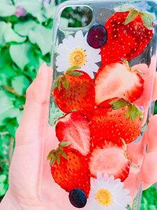 【送料無料】ハンドメイド スマートフォン 押し 花
