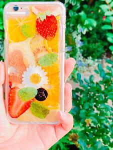 【送料無料】ハンドメイド  押し花 フルーツ いち