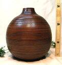 木の花瓶 マンゴーウッド 326 アジアン(アジア)テイスト タイ(チェンマイ産)手作り 和 おしゃれ