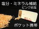 塩分 ミネラル 補給ヒマラヤ岩塩 ピンク約20g入り 【しおまる】【 熱中症 対策 予防 岩塩 】小型軽量ポケットタイプ タブレット 粒 携帯 ケース 入り
