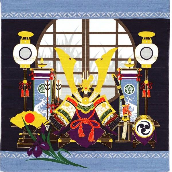 彩時記 綿小風呂敷(ふろしき) 端午の節句 中巾(50cm幅) 一升餅 母の日 父の日 ギフト プレゼント クリスマス おしゃれ 可愛い 名入れ可