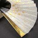 【送料無料】礼装用 金彩蒔絵扇子 流水に梅 末広 留袖用 黒留袖 結婚式 フォーマル 黒