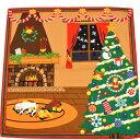 三毛猫みけのゆめ日記 みけのクリスマス中巾(50cm幅) 母の日 ギフト プレゼント お土産 京都 海外 クリスマス ねこ ネコ 一升餅 名入れ可
