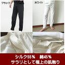 ショッピングステテコ 紳士用シルク&コットン ロングボトム M〜LL【店頭受取対応商品】