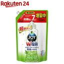 除菌ジョイ コンパクト 食器洗剤 緑茶の香り つめかえ用 超特大 増量(1120ml)【ジョイ(Joy)】