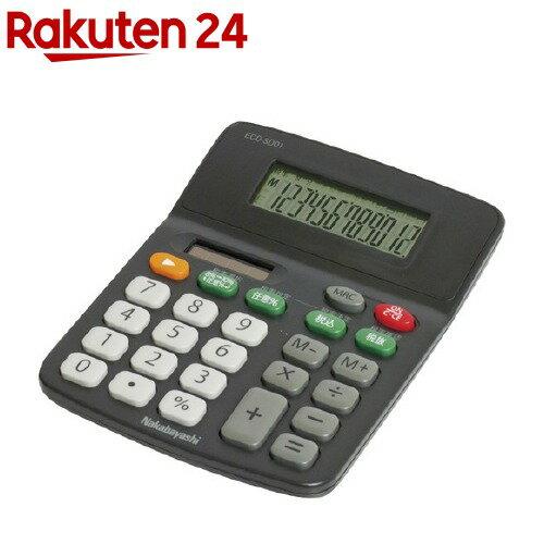 ナカバヤシ 電卓 デスクトップ 12桁 スタンダード Sタイプ ECD-SD01BK ブラック(1コ入)【ナカバヤシ】