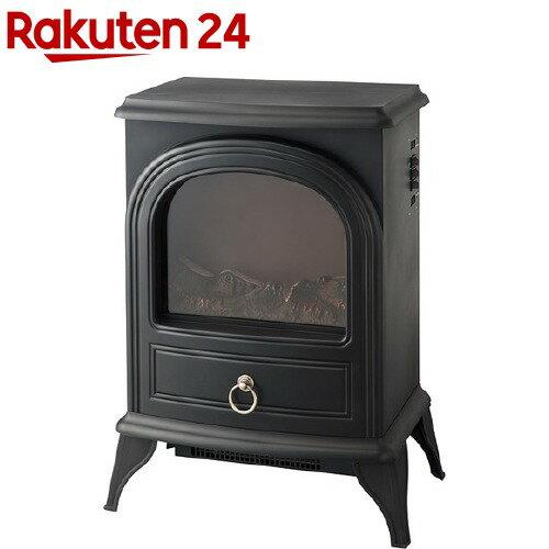 暖炉型ヒーター ノスタルジア ブラック アンティーク調(1台)