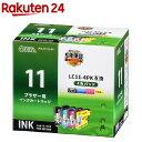 オーム電機 ブラザー互換 LC11-4PK 染料4色 01-4172 INK-B11B-4P(1セット)【オーム電機】【送料無料】