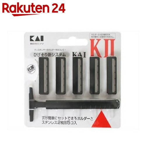 K-2 ひげそり用カミソリ ホルダー 替刃5コ付の商品画像