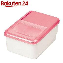 プリペア システムキッチン用米びつ 5kg ピンク【楽天24】[パール金属 米びつ]