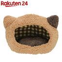 ぬくふかハウス 猫型 S ブラウン/ブラウンチェック NN-92【楽天24】【数量限定】[ベッド・マット(猫用)]【pet8】