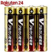 OHM Vアルカリ電池単4形 4本パック LR03/S4P/V