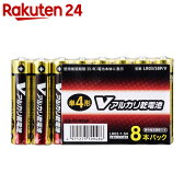 OHM Vアルカリ電池単4形 8本パック LR03/S8P/V【楽天24】【あす楽対応】[オーム電機 アルカリ乾電池]