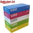 スコッティ ティシュー カラーパッケージBOX 400枚(200組)×5個パック【楽天24】【あす楽対応】[スコッティ ボックスティッシュ]