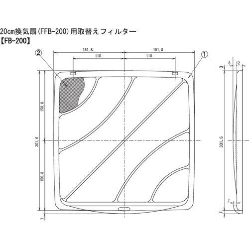 高須産業 換気扇用取替フィルター 3枚入(FF...の紹介画像2