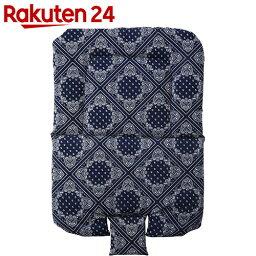 カトージ 木製ハイ&ローチェア用クッション ペイズリーブルー【楽天24】