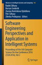 Software Engineering Perspectives and Application in Intelligent SystemsProceedings of the 5th Computer Science On-line Conference 2016 (CSOC2016), Vol 2【電子書籍】