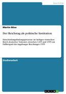 Der Reichstag als politische Institution