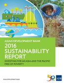 Asian Development Bank 2016 Sustainability Report