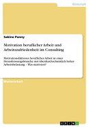 Motivation beruflicher Arbeit und Arbeitszufriedenheit im Consulting
