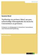 TopSharing ein probates Mittel, um gute, teilzeitwillige F���hrungskr���fte f���r deutsche Unternehmen zu gewin��